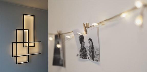Decorare pereți cu lumini
